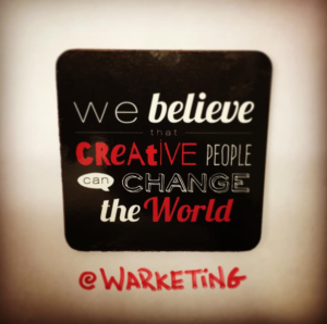 we believe creative people warketing