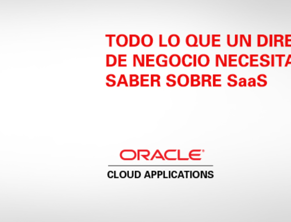 SaaS para Dummies ORACLE